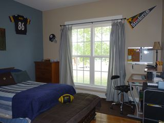 Middle son's room before real curtains.